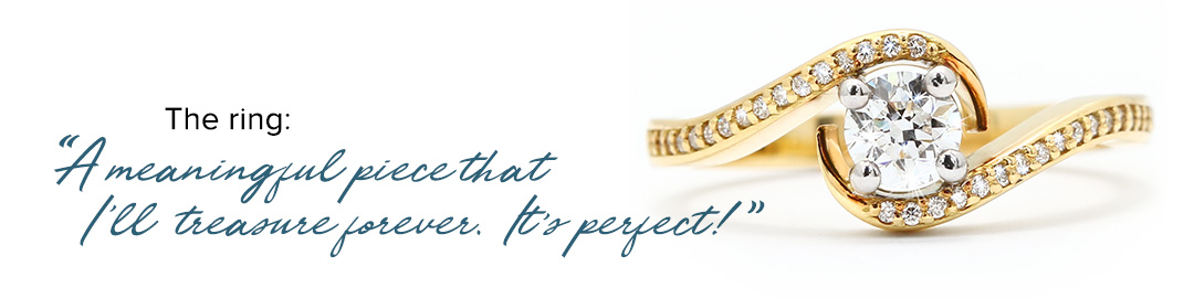 The ring - Design your own diamond ring with Nina's Jewellery