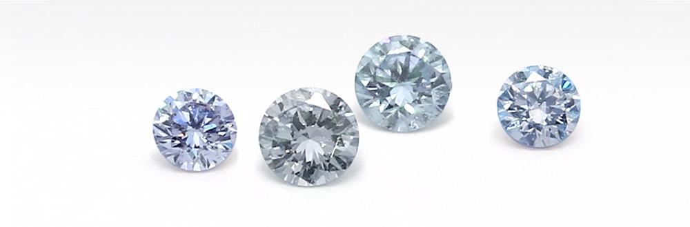 Incredibly rare blue diamonds