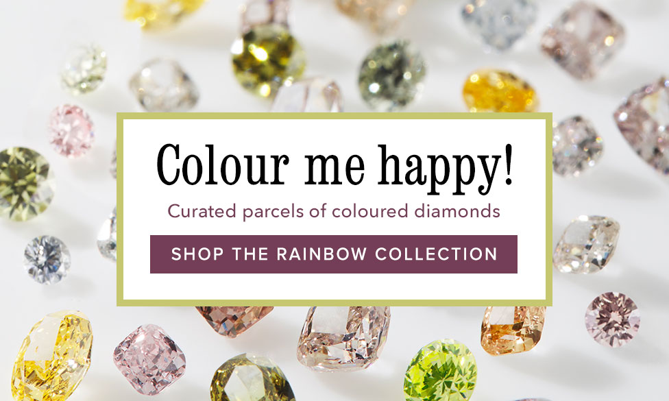 Rainbow Collections | Collections of natural coloured diamonds | Nina's Jewellery