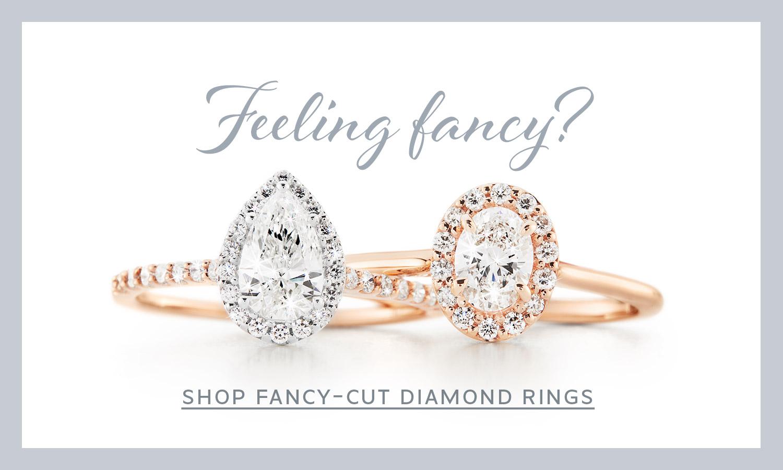 Fancy cut diamond rings