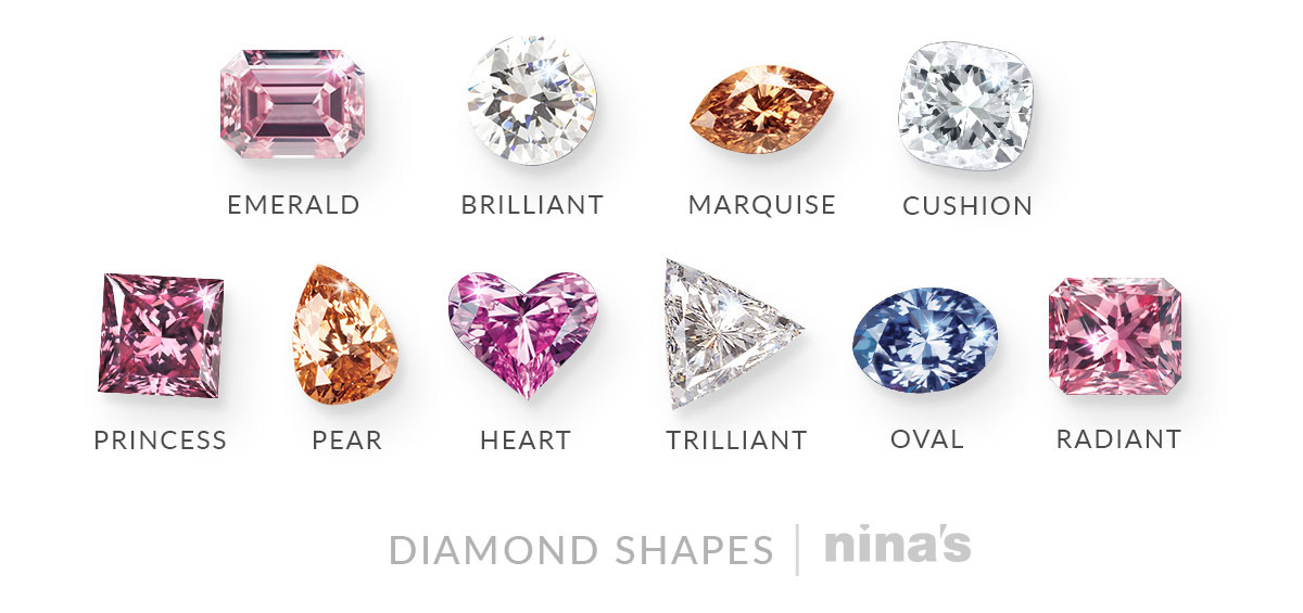 Diamond shapes | Nina's diamond guide