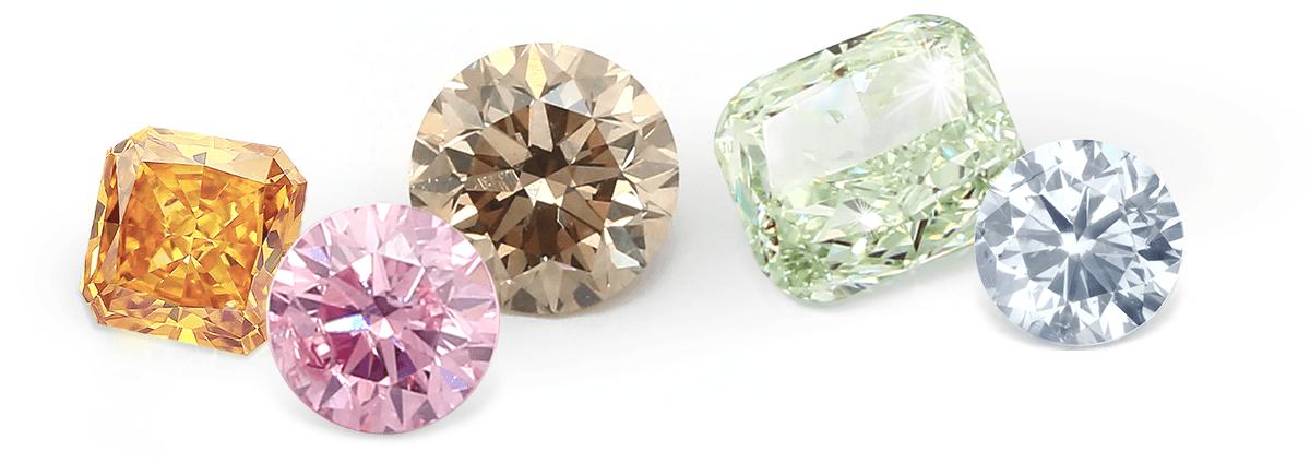 How to select coloured diamonds……