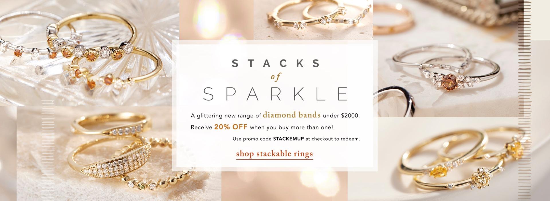 Stackable Diamond Rings | Nina's Jewellery