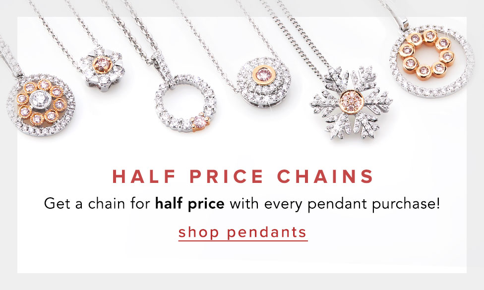 Half price chain with pendant