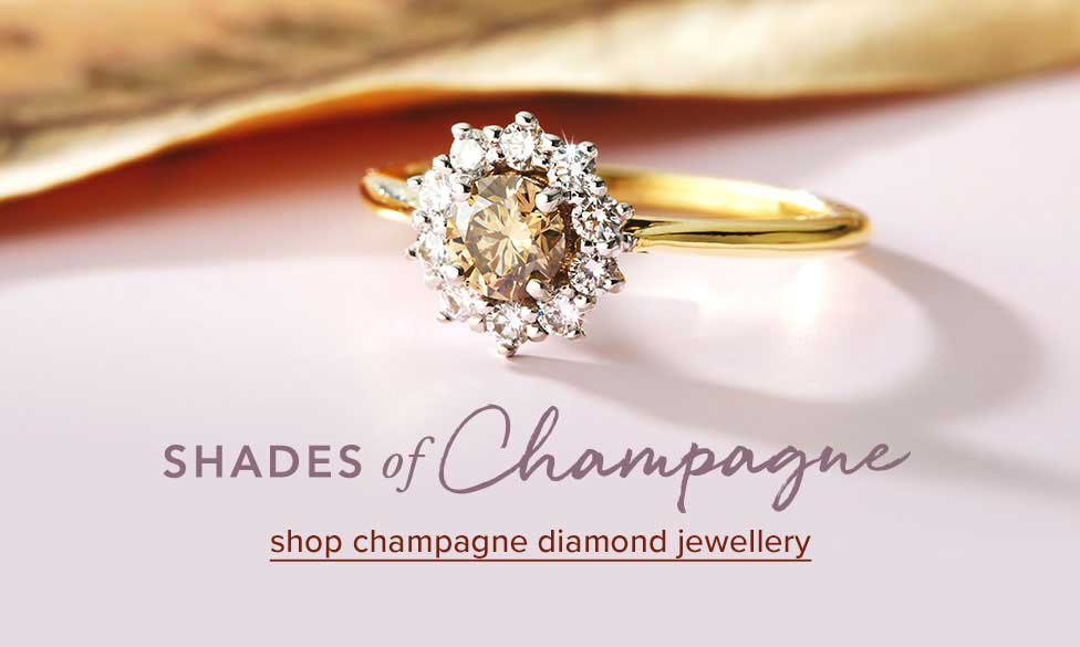 Champagne Diamond jewellery | Natural Australian diamonds | Nina's Jewellery