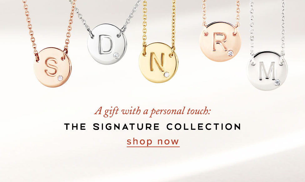 Signature Range | Initial Diamond Necklaces | Nina's Jewellery