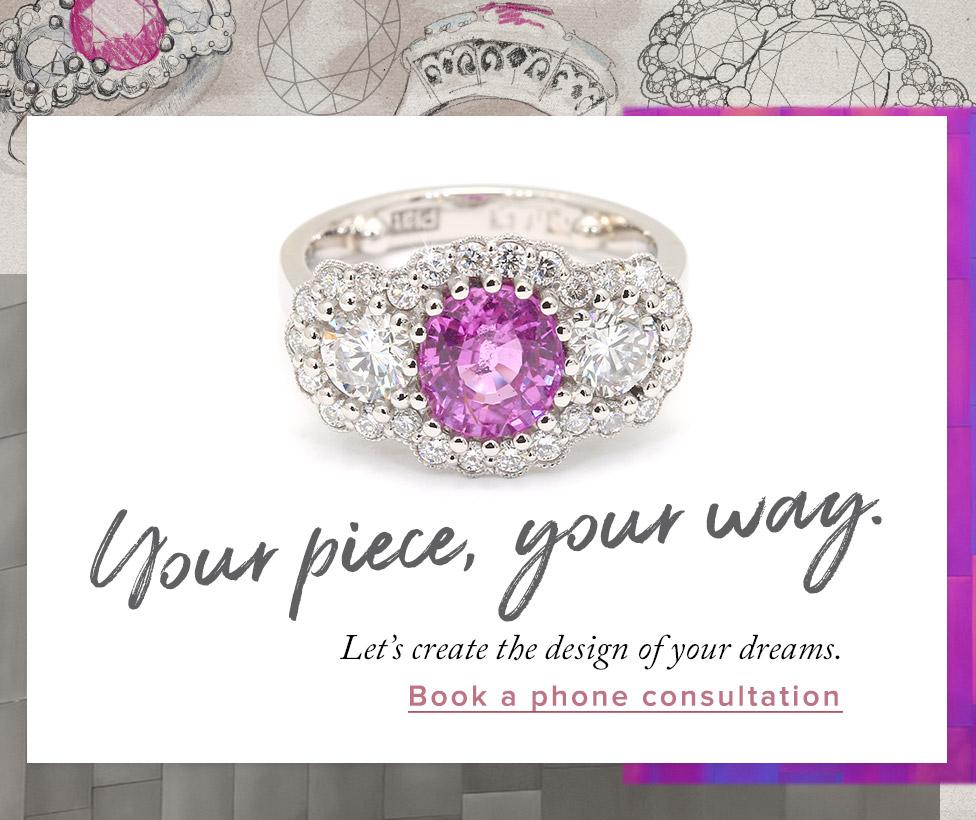 Design your own jewellery using natural Australian diamonds