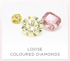 Loose natural coloured diamonds from all over the world.