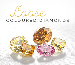 Loose coloured diamonds